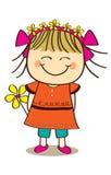 Cute little girl. Holding flower Royalty Free Stock Image