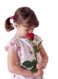 Little girl with a rose Stock Image
