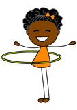 Cute little girl with hoop Royalty Free Stock Photography