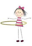Cute little girl with hoop Stock Photos