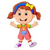 Cute little girl. Illustration of cute little girl Stock Photography