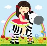 Cute little girl royalty free illustration