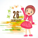 Cute little girl for Indian Republic Day celebration. Royalty Free Stock Photo
