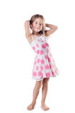 Cute little girl isolated Royalty Free Stock Photo
