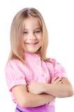 Cute little girl isolated Stock Photos