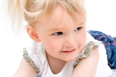 Cute little girl isolated Royalty Free Stock Image