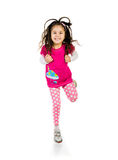 Cute little girl jump. Royalty Free Stock Images