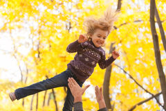 Cute little girl jumping Royalty Free Stock Photography