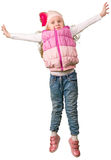 Cute little girl jumping Royalty Free Stock Image