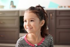 Cute little girl. In kitchen Royalty Free Stock Photography