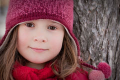 Little winter girl Stock Photography