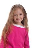 Cute little girl with long hair Stock Photos