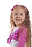 Cute little girl with long hair Stock Photo