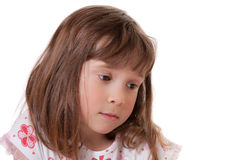 Sad little girl Royalty Free Stock Image