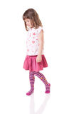 Shy little girl Royalty Free Stock Image
