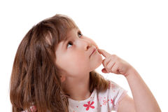 Thoughtful little girl Stock Photography