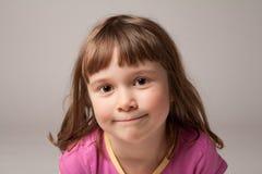 Thoughtful little girl Stock Photos