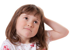 Thoughtful little girl Royalty Free Stock Photo
