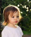Cute Little girl making funny face Royalty Free Stock Photos