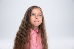 Cute little girl making silly face Stock Image