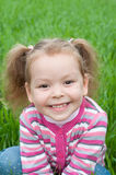 Cute little  girl on the meadow Stock Photos