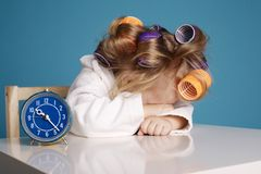 Cute little girl on morning Stock Photography