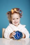 Cute little girl on morning Royalty Free Stock Photos