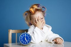 Cute little girl on morning Stock Image