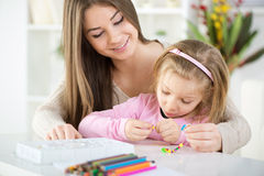 Cute little girl with mother Royalty Free Stock Image