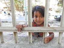 Cute little girl in Mumbai,India. Stock Photos
