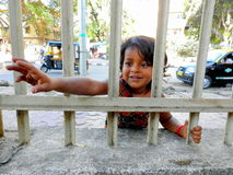 Cute little girl in Mumbai,India. Royalty Free Stock Images