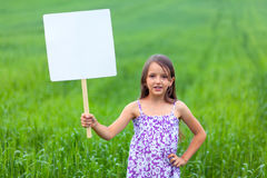Cute little girl on neutral background Stock Photos