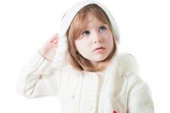 Cute little girl in new year cap Stock Photo