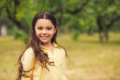 Cute Little Girl Out In Nature. Royalty Free Stock Photo