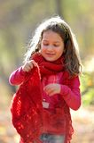 Cute little girl outdoor Stock Photo