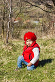 Cute little girl outdoor Royalty Free Stock Photography