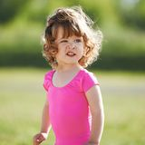 Cute little girl outdoor portrait Royalty Free Stock Image
