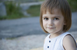 Cute little girl outdoor Royalty Free Stock Images