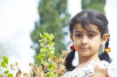 Cute little girl outdoor Royalty Free Stock Photos