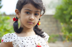Cute little girl outdoor Stock Photography