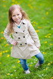 Cute little girl outdoors Stock Photo