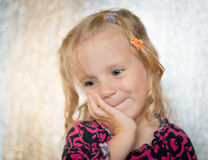 Cute little girl. Stock Photo