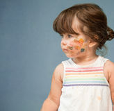 Cute, little girl with painted face Royalty Free Stock Image