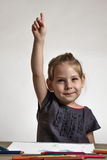 Cute Little Girl Painting on stock images