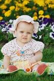 Cute little girl in panama Stock Photo