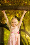 Cute little girl in the park Stock Images