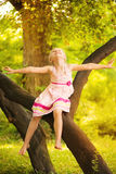 Cute little girl in the park Royalty Free Stock Photos