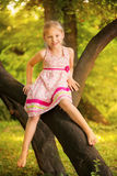 Cute little girl in the park Stock Photo