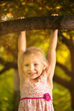 Cute little girl in the park Royalty Free Stock Photo