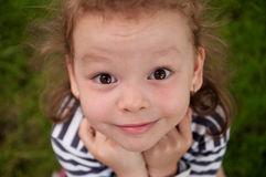 Cute little girl on the park Royalty Free Stock Photo
